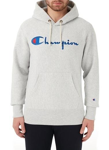 Champion  Kapüşonlu Kanguru Cepli Pamuklu Sweat Erkek Sweat 215159 Loxgm Em004 Gri